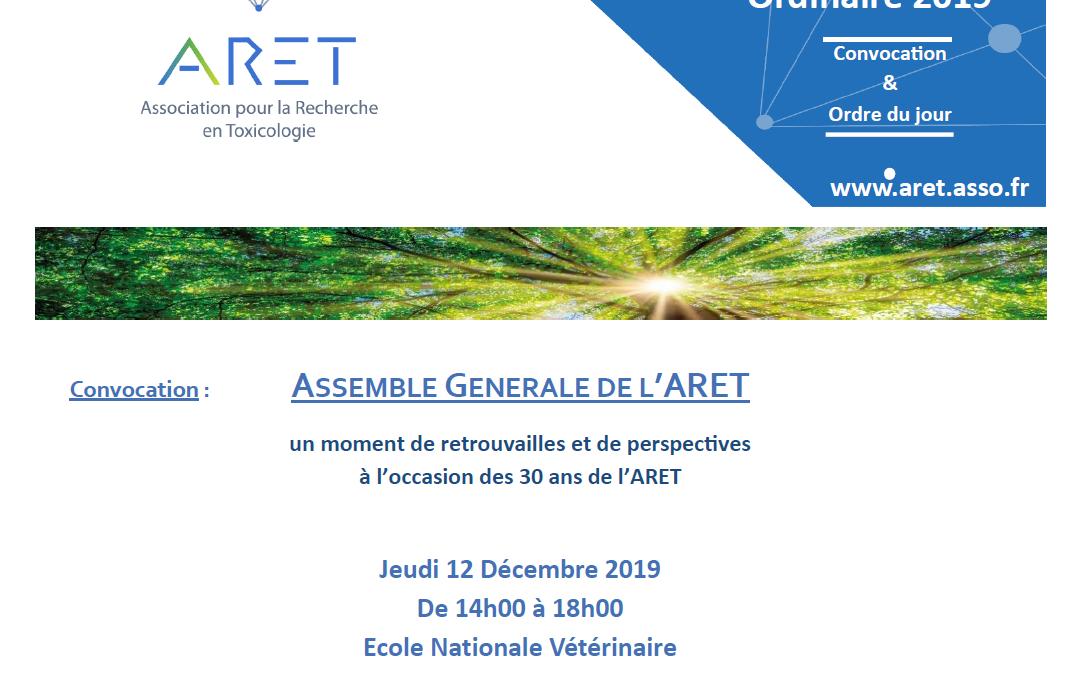 Assemblée générale de l'ARET (12 décembre 2019)