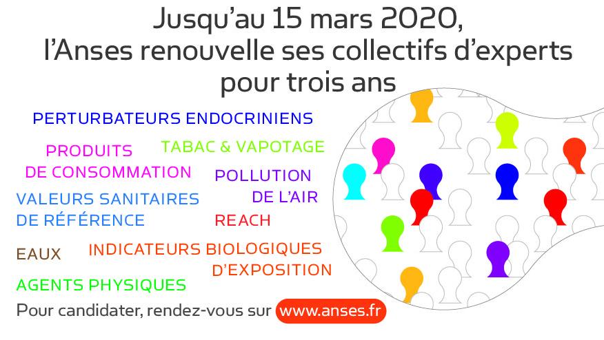 Anses : Appel à candidatures d'experts scientifiques en santé environnement travail