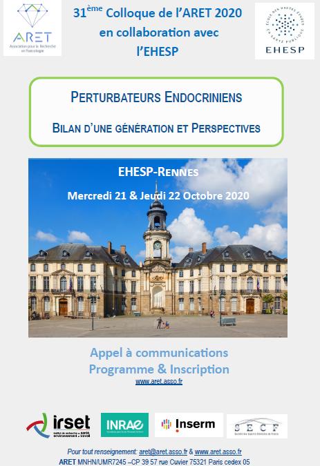 Prochain colloque de l'ARET les 21 et 22 Octobre 2020 à Rennes