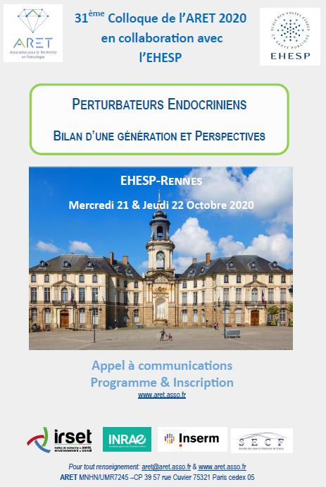 Prochain colloque de l'ARET les 21 et 22 Octobre 2020 à Rennes: les inscriptions sont ouvertes!