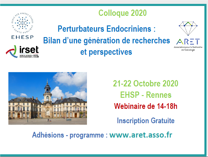 Prochain colloque de l'ARET les 21 et 22 Octobre 2020 – webinaire de 2 après-midis :  inscriptions gratuites ouvertes!