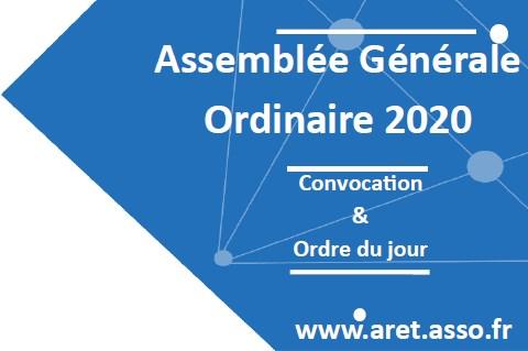 Assemblée Générale de l'ARET le 17 décembre 2020, de 15h00 à 16h00